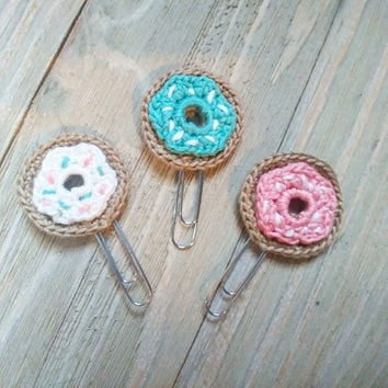 Crochet Doughnut Page Clips for Planners & Bookmarks