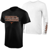 Texas Longhorns 2-Pack Respect Combo T-Shirt Set - Black