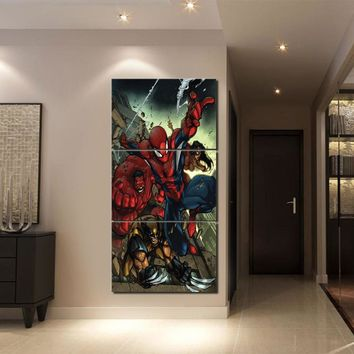 3 Piece Comics SpiderMan Canvas HD Print Posters Oil Painting Modern Wall Art