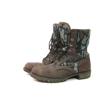 Vintage Hunting Work Boots Leather Camoflage Distressed Northlake Lace Up Farmer Thermolite Waterproof Hiking Boots Mens size 8 Womens 9.5