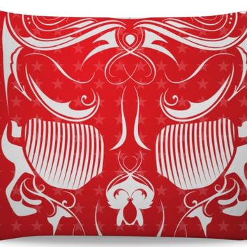 ROB Red Skull Bandana Pillowcase