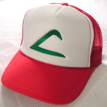 Pokemon Costume Hat Ash Ketchum Original Trainer Hat Halloween costume cap  Adult sz