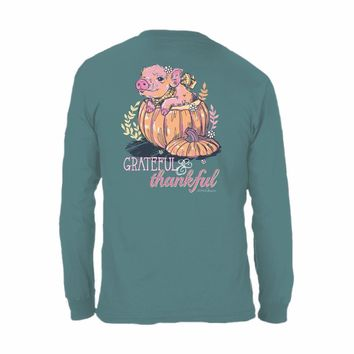 "ANNA GRACE ""PIGGY GRATEFUL"" Comfort Colors Long Sleeve"
