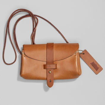 Crafted Leather Festival Bag - Camel