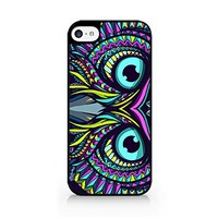 Aztec Owl - Aztec Eagle Eye - Aztec Animals - Tribal Pattern - Aztec Pattern - iPhone 5C Black Case (C) Andre Gift Shop