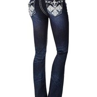CROSS DESIGN BOOTCUT JEANS