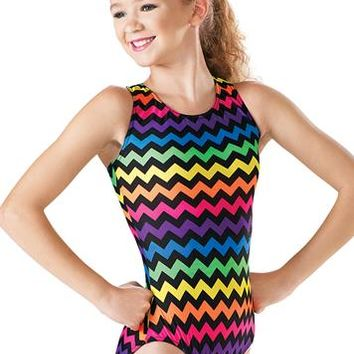 Chevron Print Tank Leotard