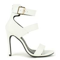 Fahrenheit Lenka-01 High Heel Sandal in White @ ippolitan.com