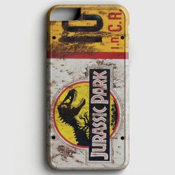 Jurassic Park Jeep License Plate 10 iPhone 7 Case