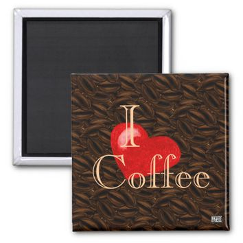 I Heart Coffee Magnet