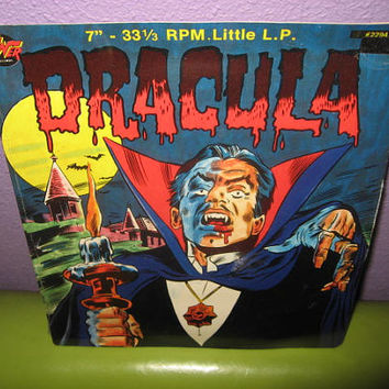 "Vinyl Record Album Dracula 7"" SEALED LP 1970's Children's Monster Classics Halloween"