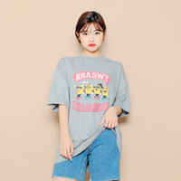 Front Print Drop Shoulder T-Shirt by Hotping