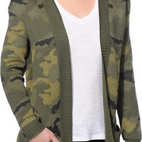 Billabong Camp Dreamin Camo Print Oversized Wrap Sweater