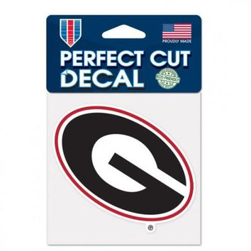 NCAA Georgia Bulldogs 4X4 Perfect Cut Decal