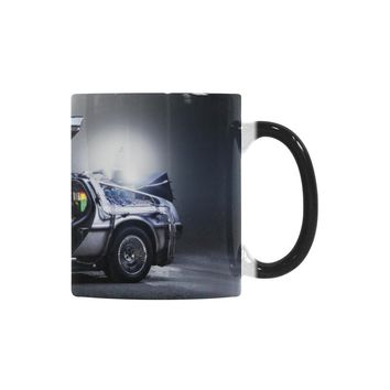 Back To The Future Delorean Time Machine Custom Morphing Mug