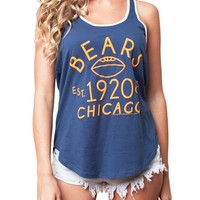 Chicago Bears Womens Racerback Tank Top | SportyThreads.com