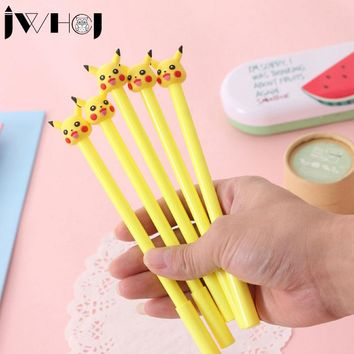 2pcs/lot Creative Pikachu Pocket elf gel pen stationery Kawaii pens canetas material escolar office school supplies Writing tool