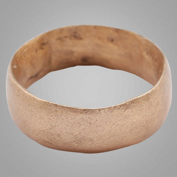 Authentic Ancient Viking Wedding Band Jewelry C.866-1067A.D. Size 8 1/2  (18.3mm)(Brr797) Unique wedding ring
