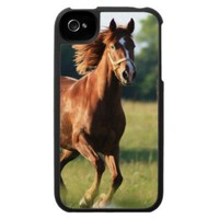 Galloping Chestnut Horse iPhone Case from Zazzle.com