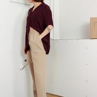 Khaki Easy Pants / M L