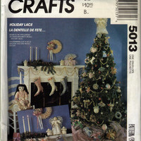 Vintage McCalls Crafts Pattern 5013 Holiday Lace Ornaments Stockings