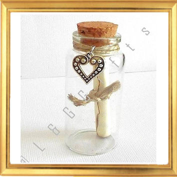 "Message in a Bottle Personalized Handwritten Special Poem ""Forever and Always"""