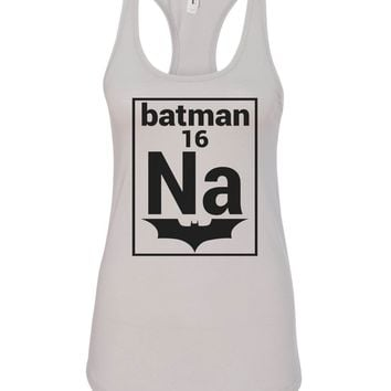 Womens Na 16 Batman Grapahic Design Fitted Tank Top