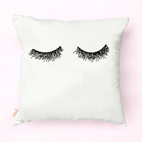 Eyelashes Canvas Pillow Cover