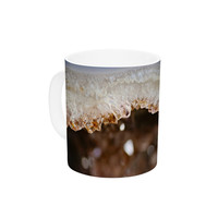 "Sylvia Cook ""Blue And Brown Quartz"" Nature Photography Ceramic Coffee Mug"