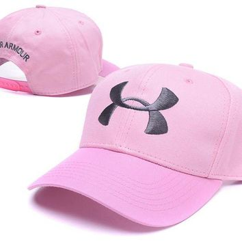 DCCKUNT Pink Under Armour Embroidered Outdoor Baseball Cap