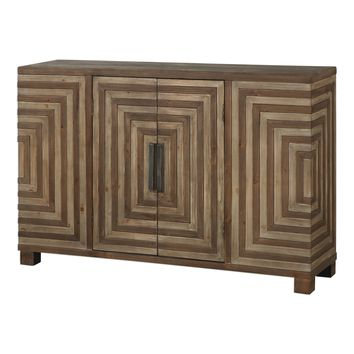 Layton Geometric Console Cabinet by Uttermost