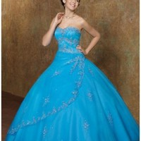 Tulle Strapless Floor Length Ball Gown Quinceanera Dress [dressnl3730] - $172.85 : dressnl.com, Prom Dresses Holland online shop