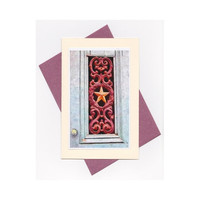 Art Nouveau Greeting Card, With Every Door We Open, Victorian Inspired Fine Art Card, Blank Card