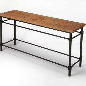 Butler Flagstaff Iron & Wood Console Table