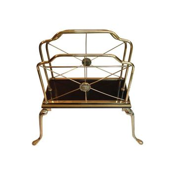 Pre-owned Directoire Style Brass Magazine Rack
