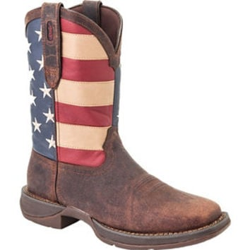 Durango Men's Rebel 11 in. Pull-On Flag Boot - For Life Out Here