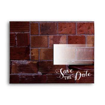 Brick Save The Date Envelope