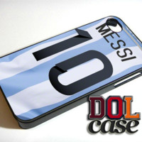 Jersey messi argentina iPhone Case Cover iPhone 4s iPhone 5s iPhone 5c iPhone 6 iPhone 6 Plus Free Shipping  Delta 567