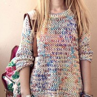 A 090523 Rainbow Knit Sweater