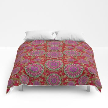 Hearts can also be flowers such as bleeding hearts pop art Comforters by Pepita Selles