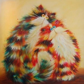 5D Diamond Painting Calico Puff Cat Collection Kit