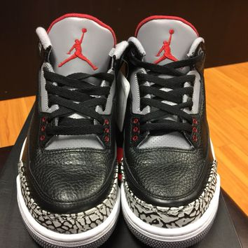"(2011) Air Jordan 3 ""Black Cement"" Size 7-11"