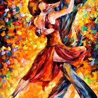 IN THE RHYTHM OF TANGO — Palette knife Oil Painting on Canvas by Leonid Afremov - Size 40x30. 10% discount coupon - deviantart10off