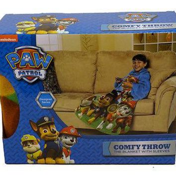 Nickelodeon Paw Patrol Race to the Rescue Blanket/SLEEVES Comfy Throw YOUTH