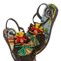 Miss L Fire Quirky Hula Wide World Sandal