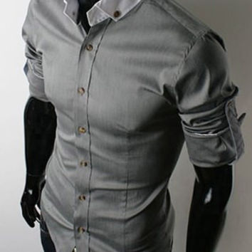 Shirt Collar Long Sleeve Button-Down Shirt