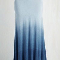 ModCloth Pastel Long Maxi Ombre New World Skirt in Blue