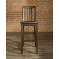 Set Of 2 - Solid Hardwood 30 Inch Bar Stools In Wood Mahogany Finish