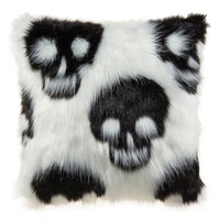 Fuzzy Skull Pillow By Ashland™
