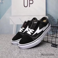 """Vans"" Unisex Fashion Multicolor Lightning Skateboard Plate Shoes Couple Sneakers"